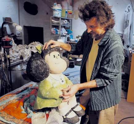 Pablo Irrgang trabajando