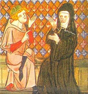 Estampa de Abelardo y Eloísa