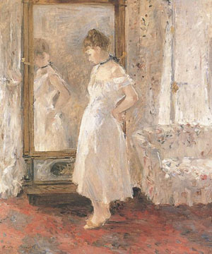 El espejo de vestir - B. Morisot