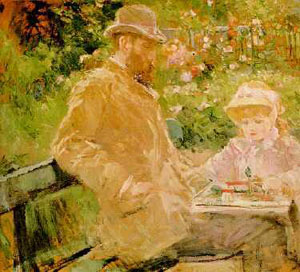 Eugene y su hija - Berthe Morisot