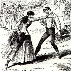 Juana atacando a Loayza