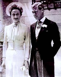 Wallis y Edward el dia de su boda